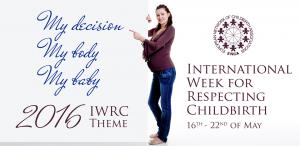 visuel semaine mondiale accouchement respecté 2016